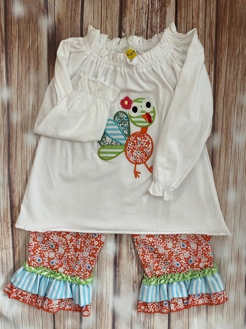 Abielle Turkey 2 Piece Ruffled Outfit