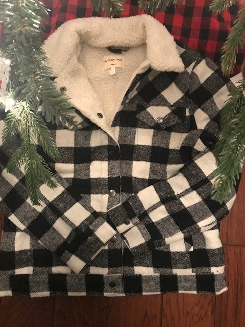 Buffalo Plaid Ladies Coat
