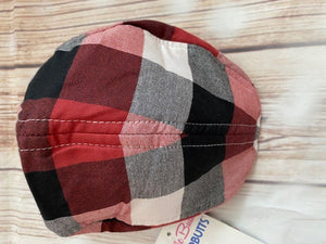 Rugged Butts Red, White & Black Plaid Driver's Cap