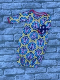 Yellow Paisley Infant Gown