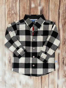 Rugged Butts Black/White Buffalo Plaid Shirt