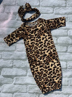 Cheetah Baby Gown