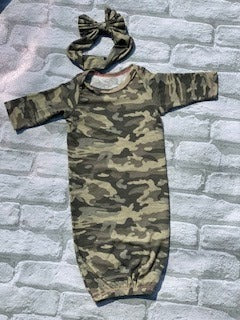 Camo Gown with Headband (This can be unisex by taking not using headband)