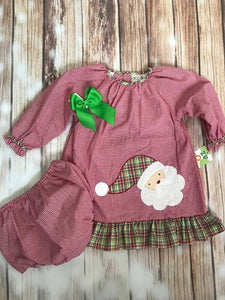 Zu Santa Gingham Infant Dress