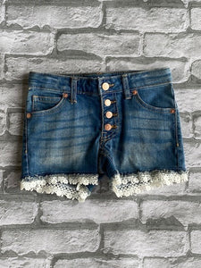 Girl's Lace Jean Shorts