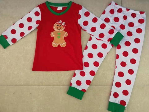 Gingerbread Girl's Christmas Pajamas