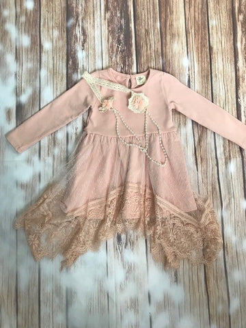 ML Kids Boho Rose Gold Tunic/Dress