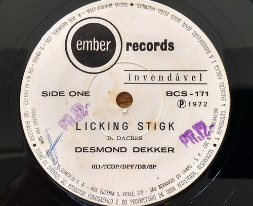 Desmond Dekker - Licking Stick