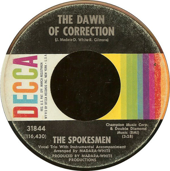 The Spokesmen - The Dawn Of Correction