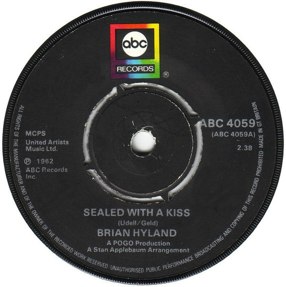 Brian Hyland - Sealed With A Kiss / Ginny Come Lately