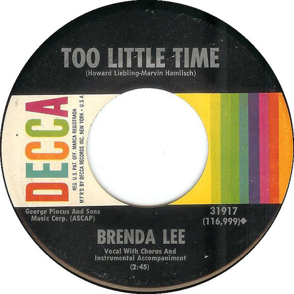 Brenda Lee - Too Little Time / Time And Time Again