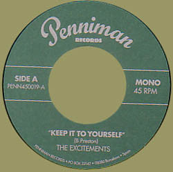 The Excitements - Keep It To Yourself / Give It Back
