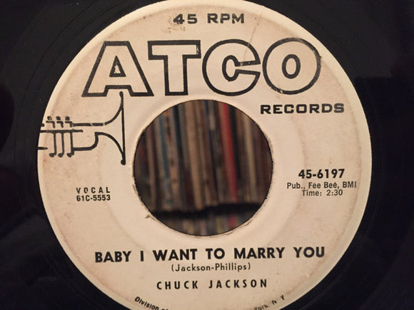 Chuck Jackson - Baby I Want To Marry You