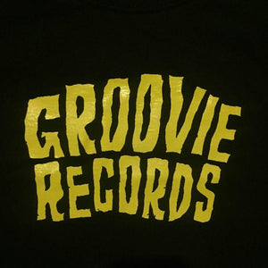 "GROOVIE RECORDS ""YELLOW LOGO"" T-SHIRT"
