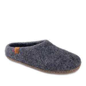 Baabushka Men Slipper - Charcoal Grey - re-souL