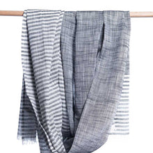 Load image into Gallery viewer, Bloom & Give Malabar Khadi Scarf - Grey - re-souL