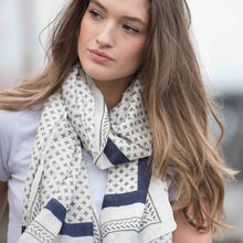 Load image into Gallery viewer, Bloom & Give Santorini Scarf - re-souL