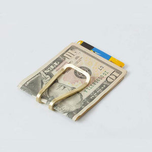 Craighill Square Money Clip - Brass - re-souL