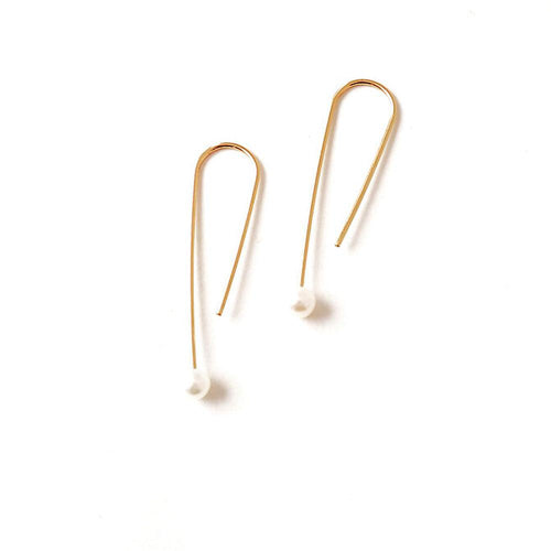 Dottyspeck Fresh Water Pearl Drop Earrings - re-souL