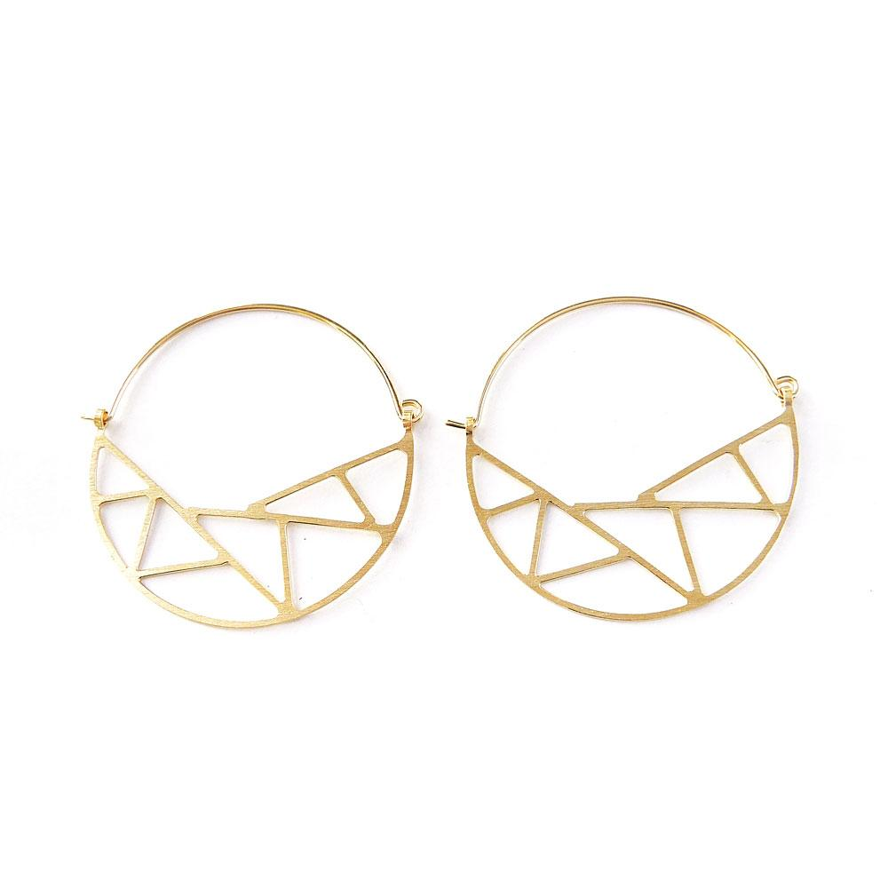 Dottyspeck Inuit Gold Hoops - re-souL