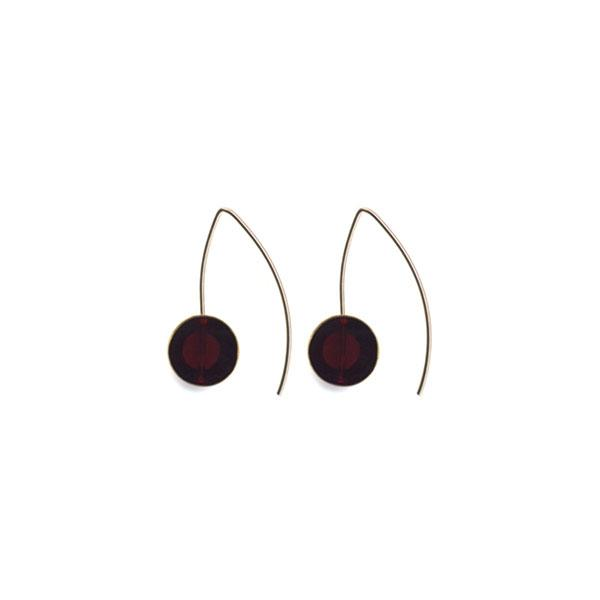 I.R. Kappos Deep Red Hook Earrings - re-souL