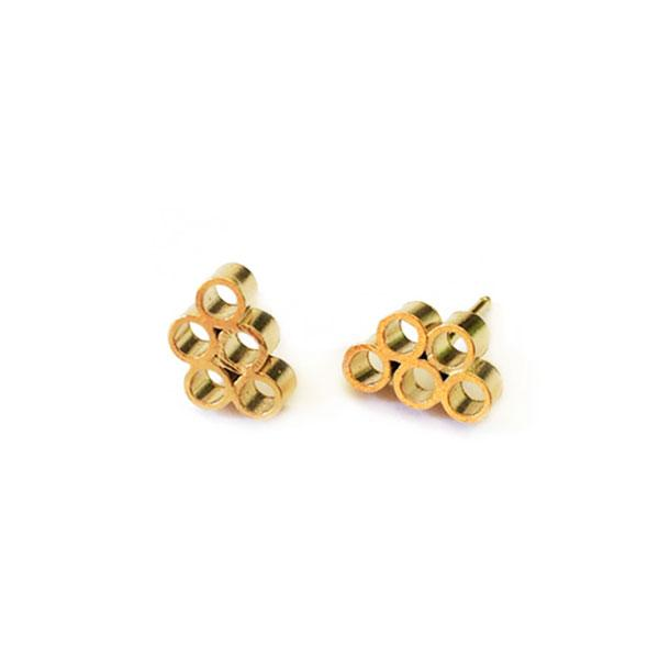 Iris Guy Bubble 05 Studs - Gold - re-souL