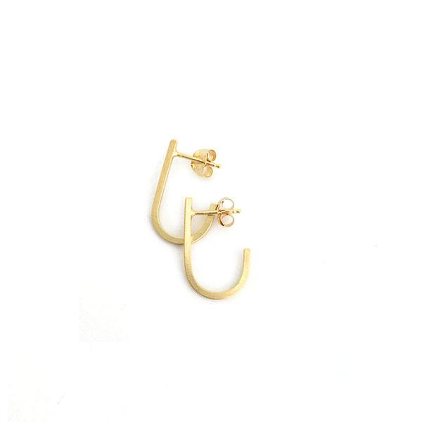 Iris Guy J Earrings - Gold - re-souL