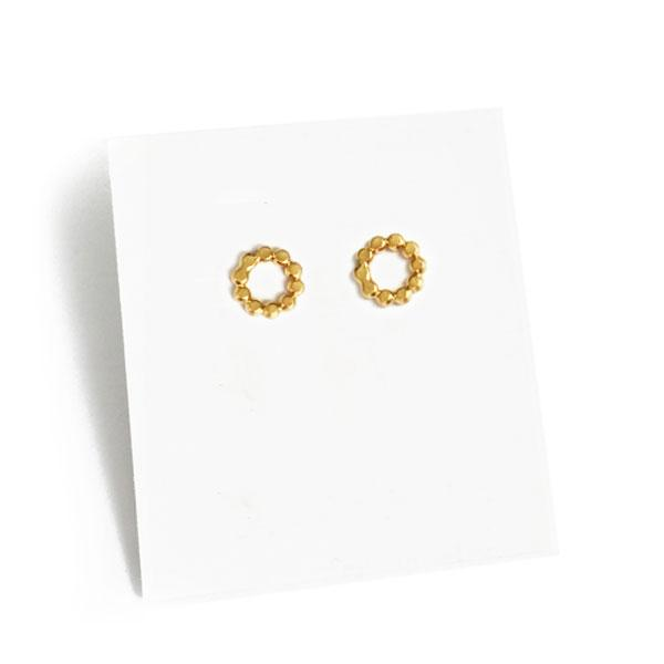 Iris Guy Pea 01 Studs - Gold - re-souL
