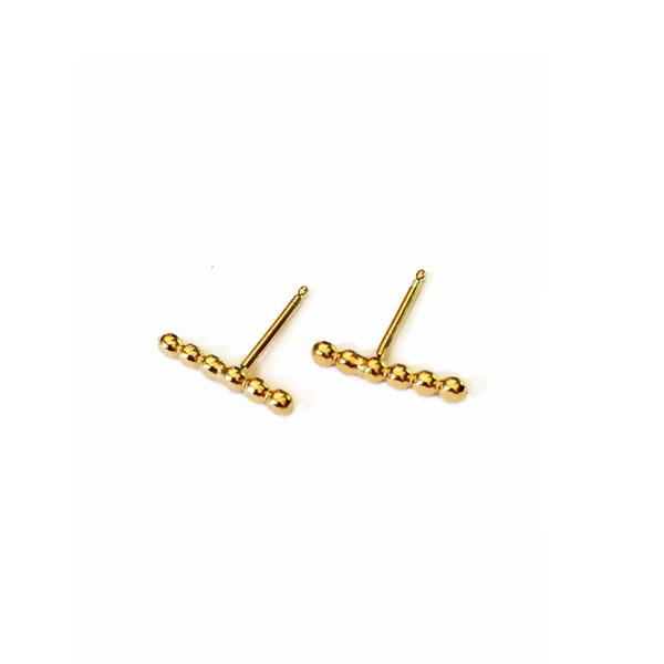 Iris Guy Pea 05 Studs - Gold - re-souL