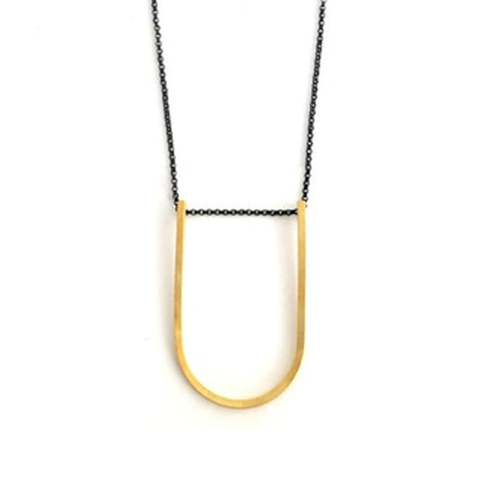 Iris Guy Small U Necklace - Gold - re-souL