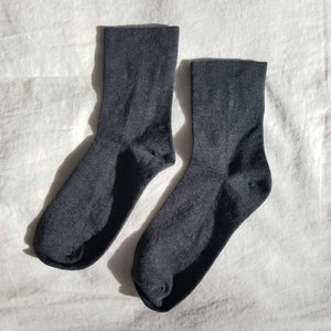 Le Bon Shoppe Sneaker Socks - Heather Black - re-souL