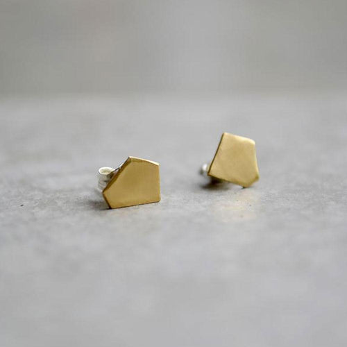 Material Wit Fragment Stud Earrings - re-souL