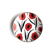 Load image into Gallery viewer, Misha Zadeh Porcelain Trinket Dish - Red Poppies - re-souL