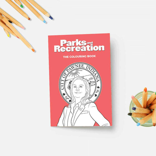 Party Mountain Colouring Book - Parks and Rec - re-souL