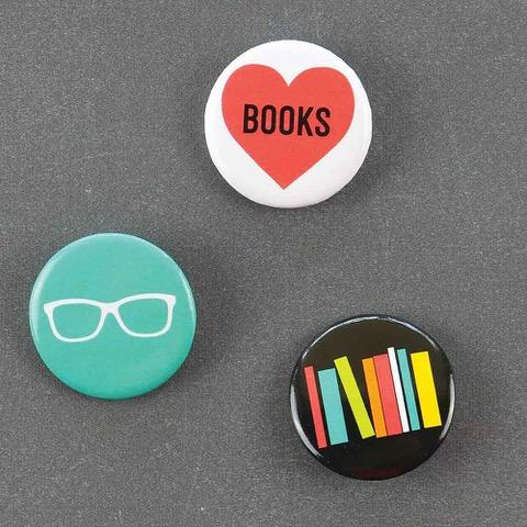 Public School Bookworm Pins Set - re-souL