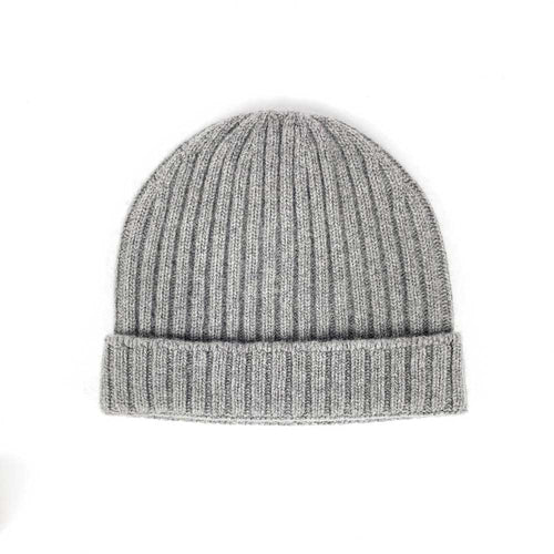 Santacana Ribbed Cuff Beanie - Grey - re-souL