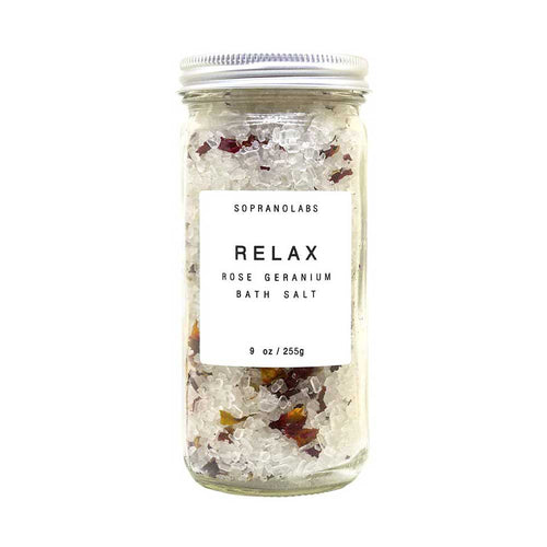SopranoLabs Rose Relax Bath Salts - re-souL