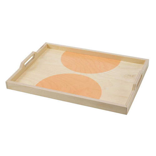 Wolfum Peach Dot Large Serving Tray - re-souL