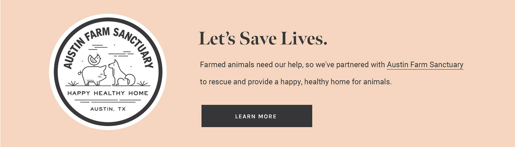 How to get 10% of your purchase donated to Austin Farm Sanctuary
