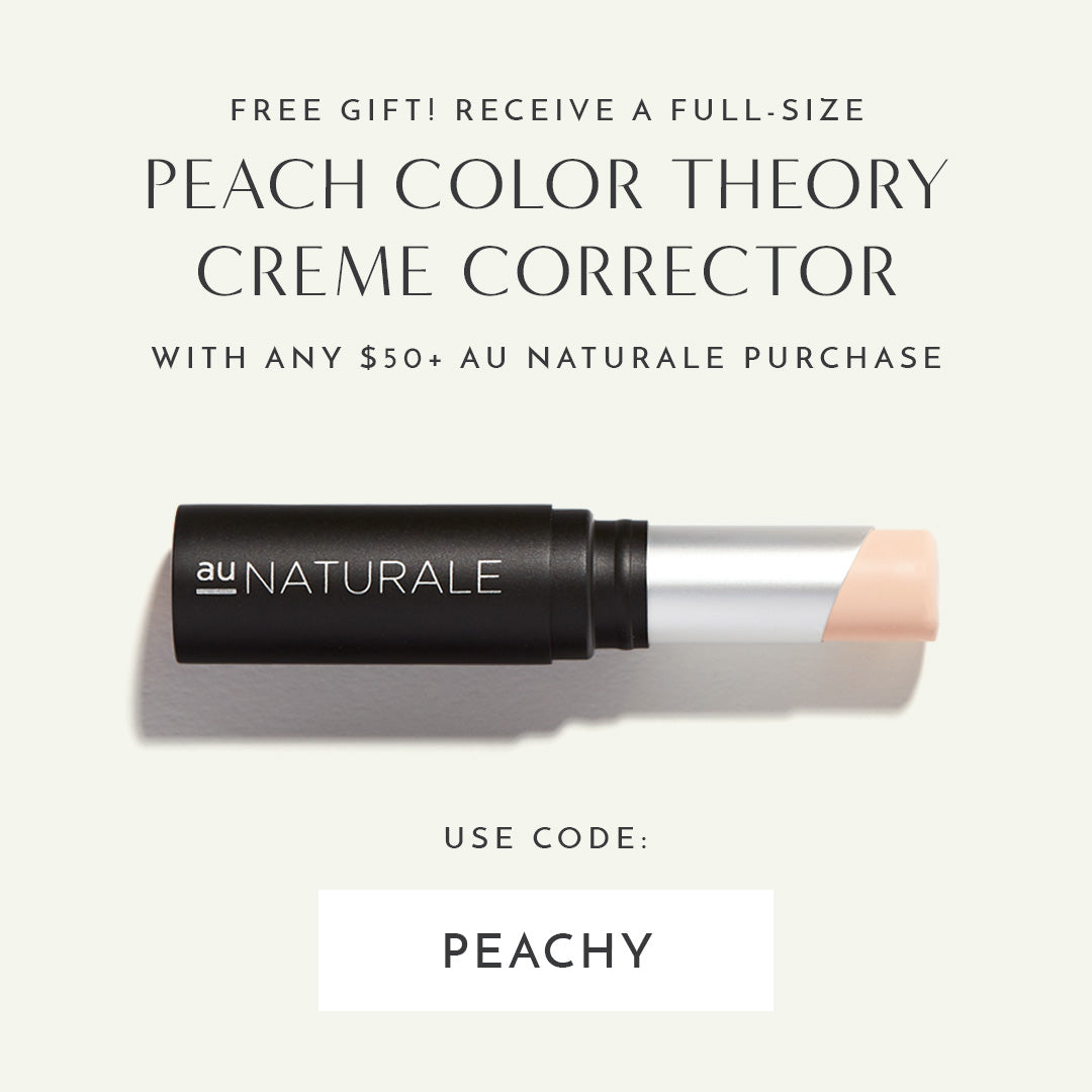 FREE Full-Size Color Theory Creme Corrector in Peach with any $50+ Au Naturale purchase. Use code: PEACHY