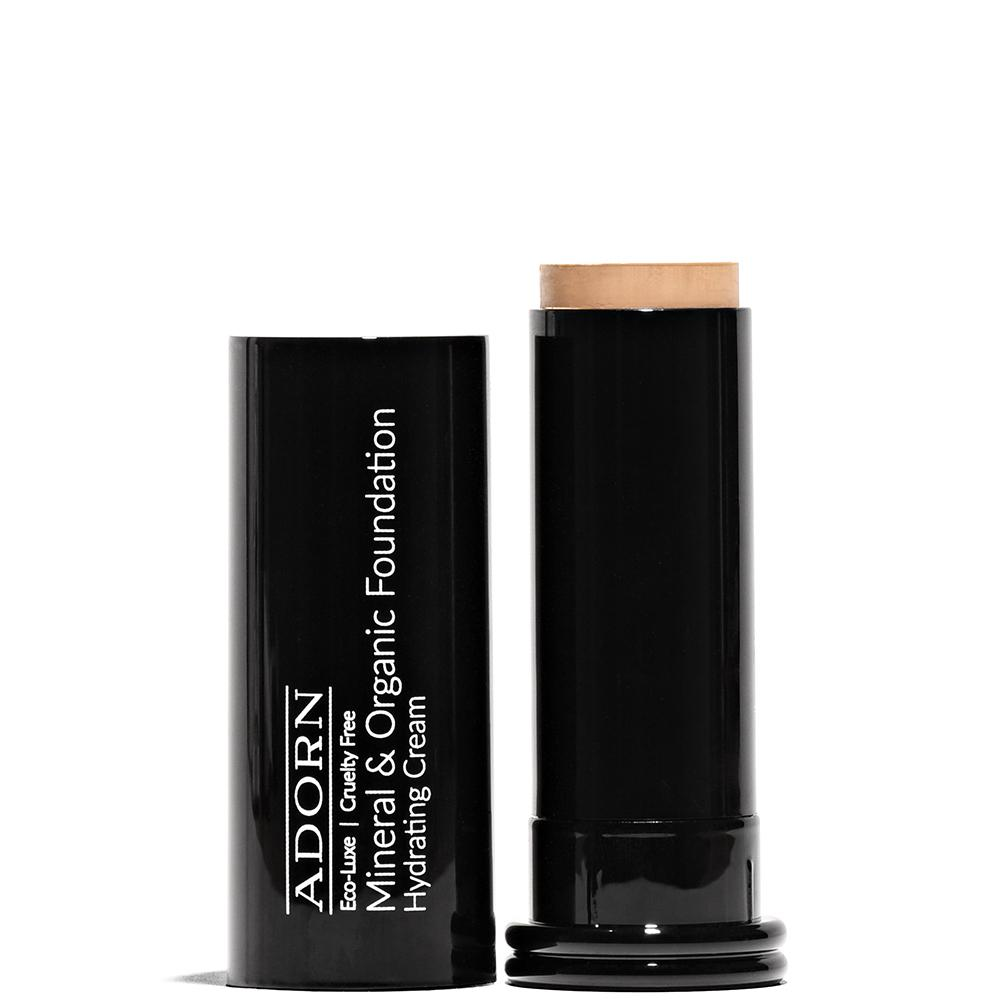 Hydrating Cream Mineral & Organic Foundation Stick  by Adorn Cosmetics at Petit Vour