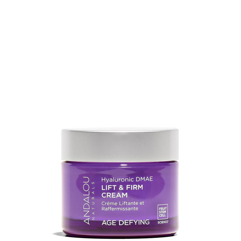 Hyaluronic DMAE Lift & Firm Cream 0.14 oz by Andalou Naturals at Petit Vour