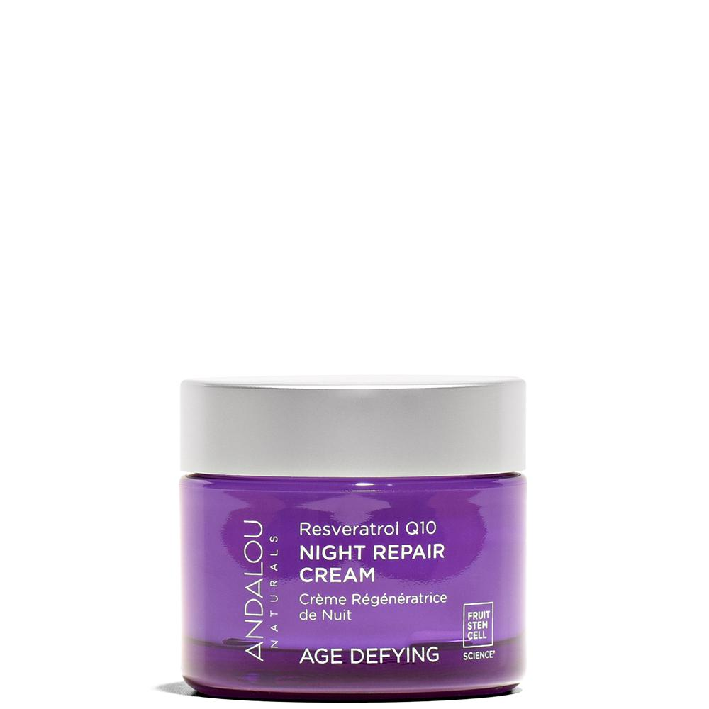 Resveratrol Q10 Night Repair Cream 1.7 oz by Andalou Naturals at Petit Vour
