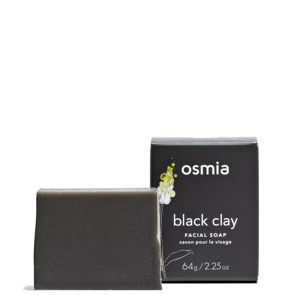 Black Clay Facial Soap  by Osmia at Petit Vour