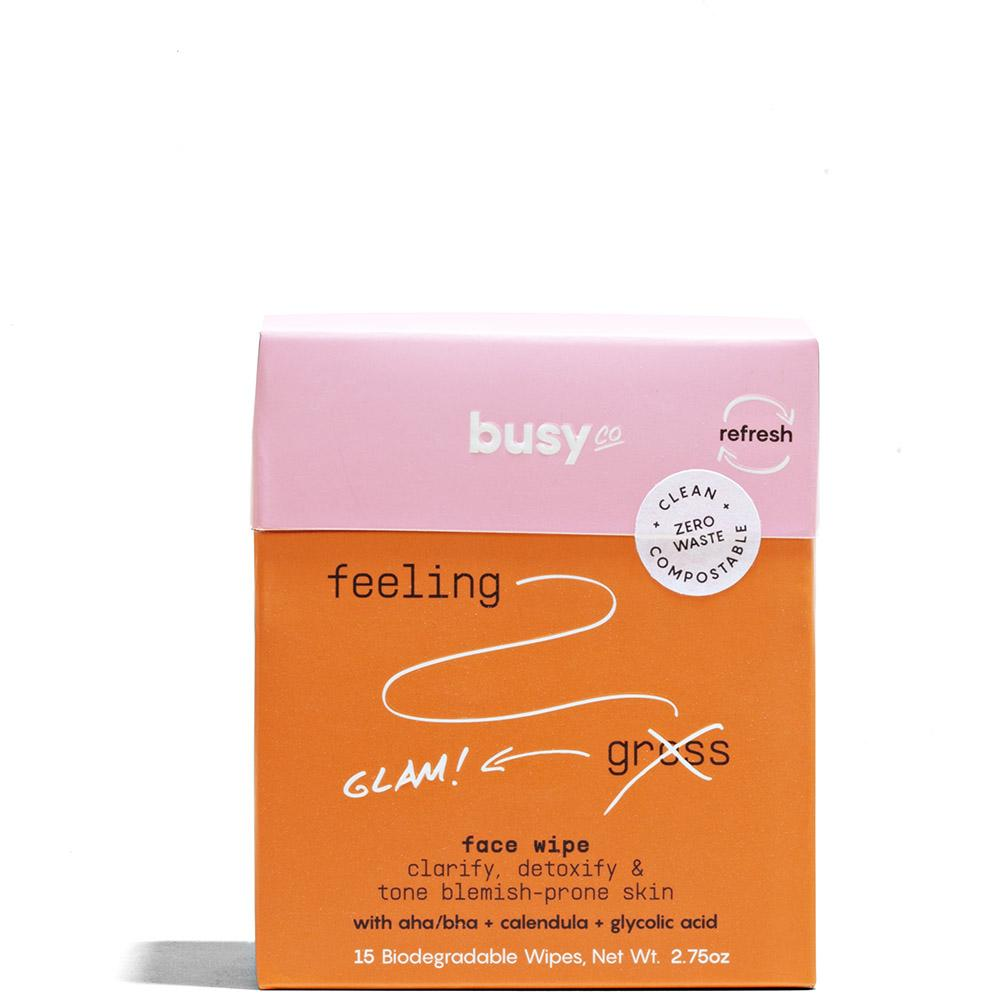 REFRESH Compostable Face Wipes 15 Wipes by Busy Co. at Petit Vour