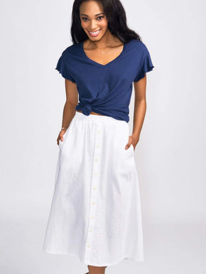 Coast Bicycle Midi Skirt White