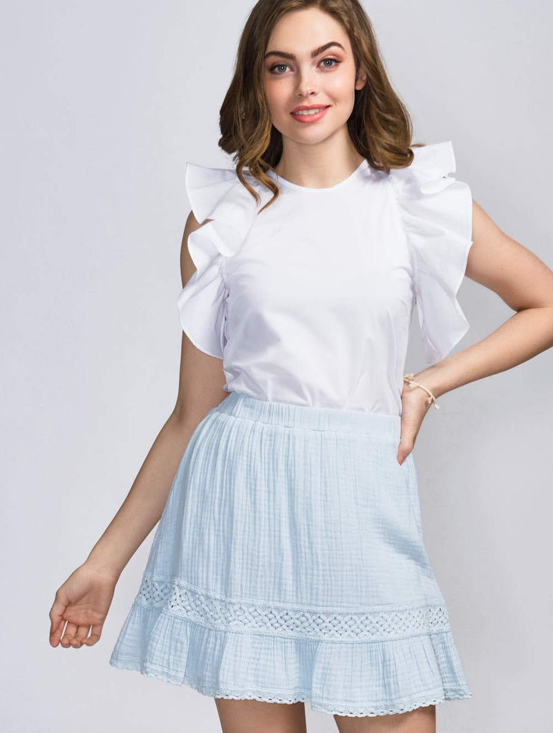 Peasant Skirt - L  by Michael Stars at Petit Vour