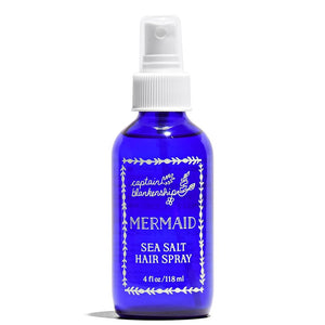 Mermaid Sea Salt Hair Spray 4 oz by Captain Blankenship at Petit Vour