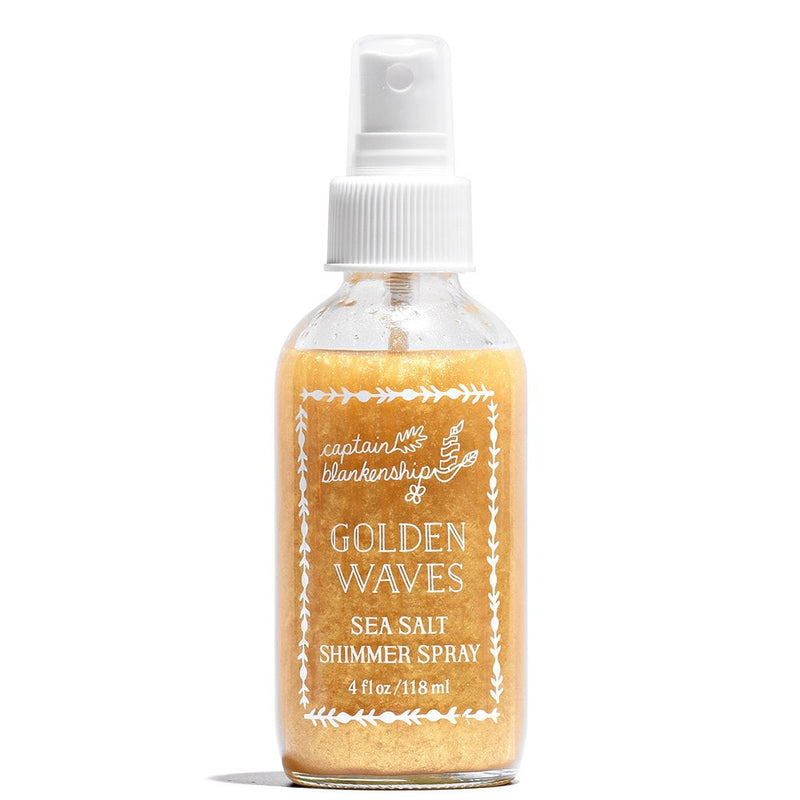 Golden Waves Sea Salt Shimmer Spray 4 fl oz by Captain Blankenship at Petit Vour