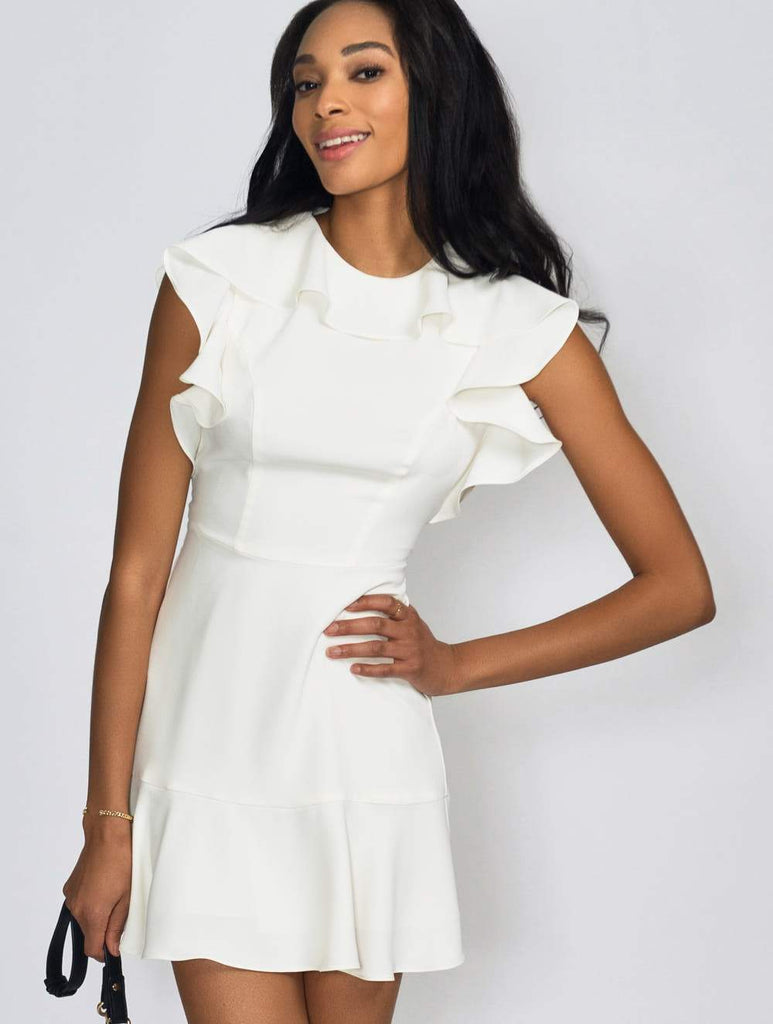 Amanda Uprichard Emery Dress Ivory